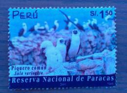 Peru / 2002 / Mi 1812 / Used  / Bird, Peruvian Booby, Sula Variegata - Peru