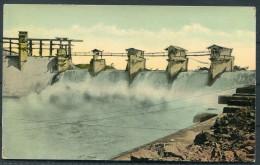 Panama Canal -  Gatun Spillway Discharging Flood-water - Panama