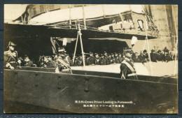 Japan Crown Prince Hirohito Visit To England - Landing At Portsmouth - RP Postcard - Royal Families