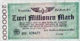 Notgeld Reichsbahn 2 Millionen Mark  1923 - [ 3] 1918-1933 : Repubblica  Di Weimar