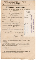 1931 BULLETIN D´ADHESION A L´AMICALE DES ANCIENS DU 12e DRAGONS JOUVENELLE HENRI NANTES OFFICIER CLASSE 1895 - Documents