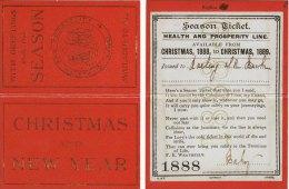 Railway Company Novelty Christmas Message Season Ticket 1888 Replica - Season Ticket