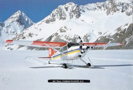 Ski Plane, Tasman Glacier, New Zealand - Tiki P2750 Unused - New Zealand