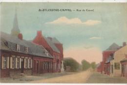 CPA 59 SAINT SYLVESTRE CAPPEL Rue De Cassel Carte Colorisée 1923 - Ohne Zuordnung
