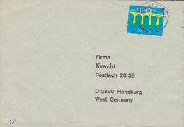 Norway Deluxe OSLO CENTRUM 1984 Cover Brief To Germany Europa CEPT Bridge Brücke Pont - Briefe U. Dokumente