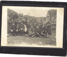 MILITARIA - Guerre 1914 - 1918 :  CP Photo SoldatS Du 6 ème Régiment à Pied - 25 ème Batterie à Villey St Etienne - Régiments