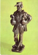 Cartolina STADTMUSEUM FEMBOHAUS HOLZMODELL ZUM GANSEMANNCHEN-BRUNNEN 1981 - OTTIMA F21 - Sculptures