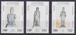 Série De 3 TP Neufs ** N° 1257/1259(Yvert) Cambodge 1995 - Culture Khmère, Statues - Cambodia