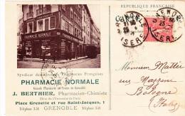 Syndicat Des Grandes Pharmacies Francaises, Pharmacie Normale. Grenoble 1925 - Advertising