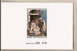 SMOM - Prova Di Stampa Serie 244 - Natale - 1985 - Sovrano Militare Ordine Di Malta