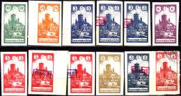 POLAND 1917 ZARKI Forgeries Small Collection - ....-1919 Übergangsregierung