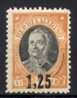 San Marino 1927 Sass.130 */MH VF - Unused Stamps
