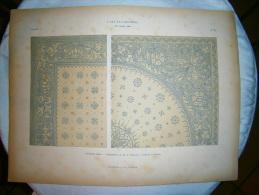PLANCHE L ART ET L INDUSTRIE   ORNEMENTS PLATS  ANNEE 1882 - Other Plans