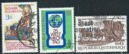 Austria 1982 Usato - Mi.1703;1705;1713  Yv,1533/4;1541 - 1945-.... 2a Repubblica