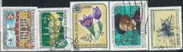 Austria 1986 Usato - Mi.1846/50  Yv.1675/9 - 1945-.... 2a Repubblica