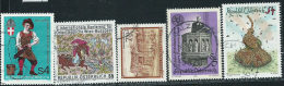 Austria 1986 Usato - Mi.1861/5  Yv.1689/0;1692/3;1695 - 1945-.... 2a Repubblica