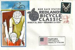 USA. Redlands Bicycle Classic. Redlands. Californie,enveloppe Souvenir 2006 - Wielrennen