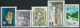 Austria 1988 Usato - Mi.1924/8  Yv.1753/7 - 1945-.... 2a Repubblica