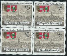 Austria 1988 Usato - Mi.1930  Yv.1760  Bloc 4x - 1945-.... 2a Repubblica