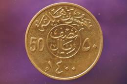 Saudi Arabia  - 50 Halala  -  AH1400 - Saudi Arabia