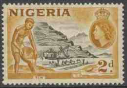 Nigeria 1953 Mi 74 SG 72 * MH -  Tin Mining / Zinnabbau / Mines D'étain / Tinmijn - Treinen