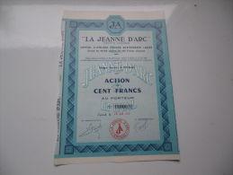 LA JEANNE D'ARC (1963) EPINAL-VOSGES - Aandelen