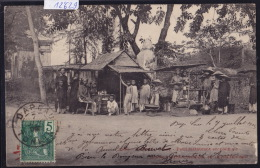 Annam - Hué - Petit Restaurant En Plein Air - 1905, 2 Timbres Indochine Française 1 Recto, 1, V. (12´629) - Viêt-Nam