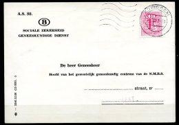 BE  S 56B   Obl   ---  16 Dents...  --  Sur Carte SNCB  Zottegem - Service
