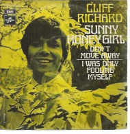 "45 Tours SP -  CLIFF RICHARD   - COLUMBIA 04717   "" SUNNY HONEY GIRL "" + 1 - Vinyl Records"