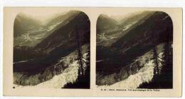 PHOTO STEREOSCOPIQUE - S41. 3653. CHAMONIX. VUE PANORAMIQUE DE LA VALLEE. - Stereoscopic