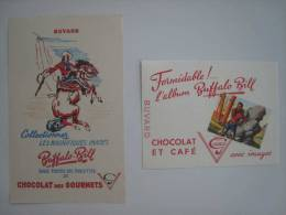 Buvards Chocolat Café Des Gourmets Buffalo Bill Images - Papel Secante
