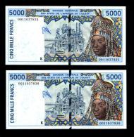 5000 Francs SENEGAL 2000 NEUF - UNC - Suite De 2 Billets - Sénégal