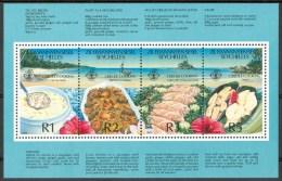 1989 Zil Elwannyen Sesel - Seychelles Alimentazione Supply Alimentation Culinaria Culinary Culinaire Block MNH** Fo25 - - Seychelles (1976-...)