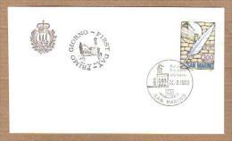 SAN MARINO - FDC UFFICIO FILATELICO DI STATO 1983 - LICEO DI STATO - FDC