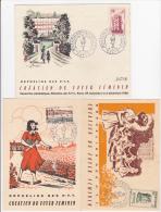 FRANCE  3 DOCUMENTS  1956  FOYER FEMININ ORPHELINS DES PTT  POSTE - Post