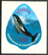 1978 Tonga OFFICIAL AIRMAIL Cetacei Cetaceans Balene Whales Baleines Adesivi Adhesives MNH** Fo39 - Tonga (1970-...)