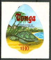 1978 Tonga OFFICIAL AIRMAIL Tartarughe Turtles Tortues Adesivi Adhesives MNH** Fo39 - Tonga (1970-...)