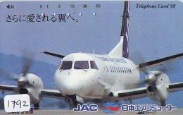 Télécarte Japon * AVION *  JAC *  AIRLINES (1792) Airplane Airline Japan Phonecard Flugzeug * TK * - Flugzeuge