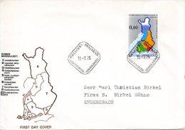 FINLANDE. N°748 Sur Enveloppe 1er Jour (FDC) De 1976. Langue Nationale/Cartographie. - Geography