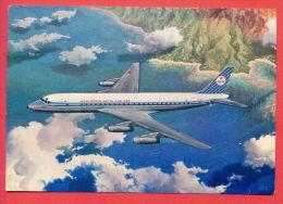 133080 / AIRPLANE - KLM ROYAL DUTCH AIRLINES , DOUGLAS DC 8 INTERCONTINENTAL JET  Netherlands Nederland Pays-Bas