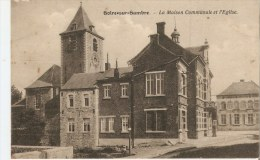 Solre-sur-Sambre La Maison Communale Et L'Eglise - Erquelinnes