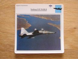 NORTHROP F-5F Tiger II   Appareil D´entrainement FICHE AVION Avec Description   Aircraft Aviation - Airplanes