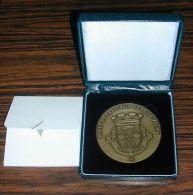 Grande Médaille Freguesia Commune Prior Velho Diamètre Environ 7,8cm En Métal - Other