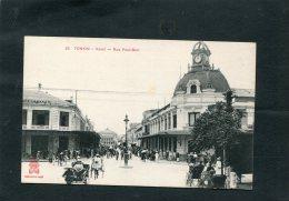 VIET NAM   / TONKIN /  HANOI RUE PAUL BERT TRES ANIMEE  CIRC NON - Viêt-Nam