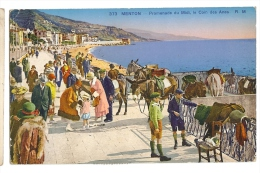 1931 France, Menton Promenade Du Midi, Le Coin Des Anes Ppc Used To UK - Menton