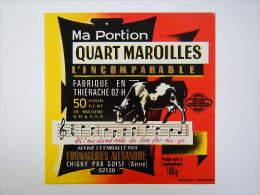A-02040 - étiquette De Fromage QUART MAROILLES - Alexandre à CHIGNY - Aisne 02D - Cheese