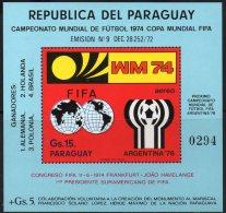 FIFA-Pokal WM 1974 Paraguay Block 234 ** 25€ Fußball-Tor Foglietto Hojita M/s Keeper Sport Bloc Soccer Sheet Bf America - Paraguay
