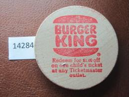 FICHA 1 DOLAR DESCUENTO BURGER KING, TOKEN, JETON , DOLLAR DISCOUNT BURGER KING - Monedas/ De Necesidad