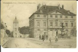CPA  CHAMPAGNOLE, Hôtel De Ville Et Le Château D'Eau  8359 - Champagnole