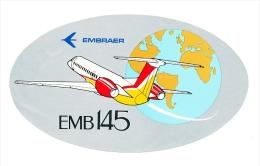 Autocollant Sticker / EMBRAER EMB 145 / Avion Plane Aviation Aircraft  // ADH 21/3 - Autocollants